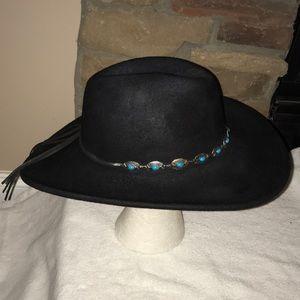 OUTBACK Black Wool Women's Western Cowboy Hat